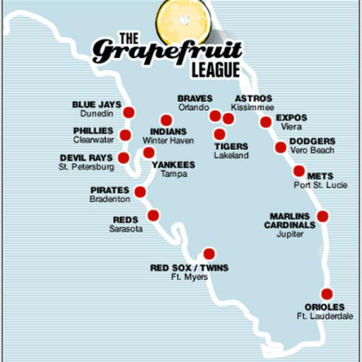 spring training map florida Teams Florida Spring Training Connor Mrowl