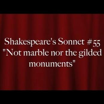 not the marble nor the gilded monuments summary